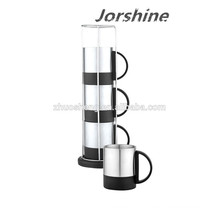 new design stainless coffee cup set KT002