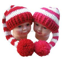 Hand Crochet Hat Baby Shower Gift POM POM Tail Hat