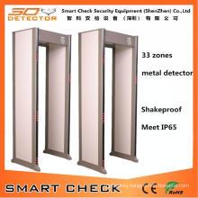 650I 33 Zones Security Metal Detector Gate Walk Through Metal Detector