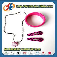 Wholesale Girls Plastic Necklace and Bracelet Set Toy for Kids