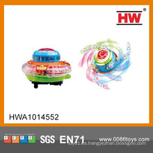 Luz eléctrica de la venta caliente encima de la tapa de giro (azul, naranja, mezcla verde, batería no incluida)