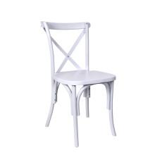 White Color Plastic Cross Back Chair
