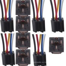 Coche 12 V 12 V CC 80A AMP Relé Transparente y Socket Spdt 5pin 5 Cables
