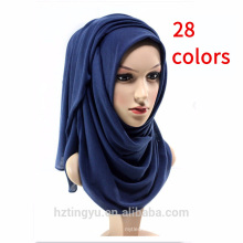 Bufanda cómoda del algodón de la sensación al por mayor jersey liso del algodón Hijab para las mujeres