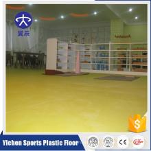 Plancher de rouleau stratifié de vinyle de PVC de couleur lumineuse