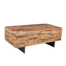 Soporte para TV de patas de madera y metal