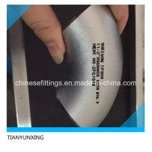 Encaixes de tubulação sem emenda de 90 graus Cotovelo de tubulação de aço inoxidável