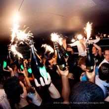 Bougies de fête d'anniversaire de fontaine de gâteau de glace Sparklers de bouteille de Champagne pour des feux d'artifice de partie