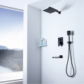 Black Bathroom Shower Hot Cold Shower Faucet Set