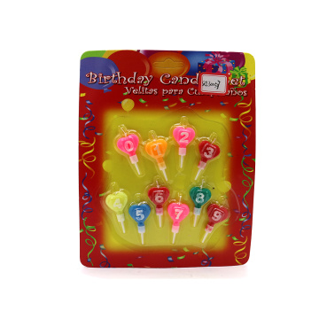 Birthday Number Shupped Candle