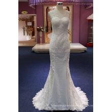 Hot Sale Lace Applique Mermaid Evening Gown Bridal Dress