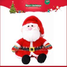 Fábrica de atacado 2016 novo presente enfeites de natal papai noel de pelúcia brinquedo