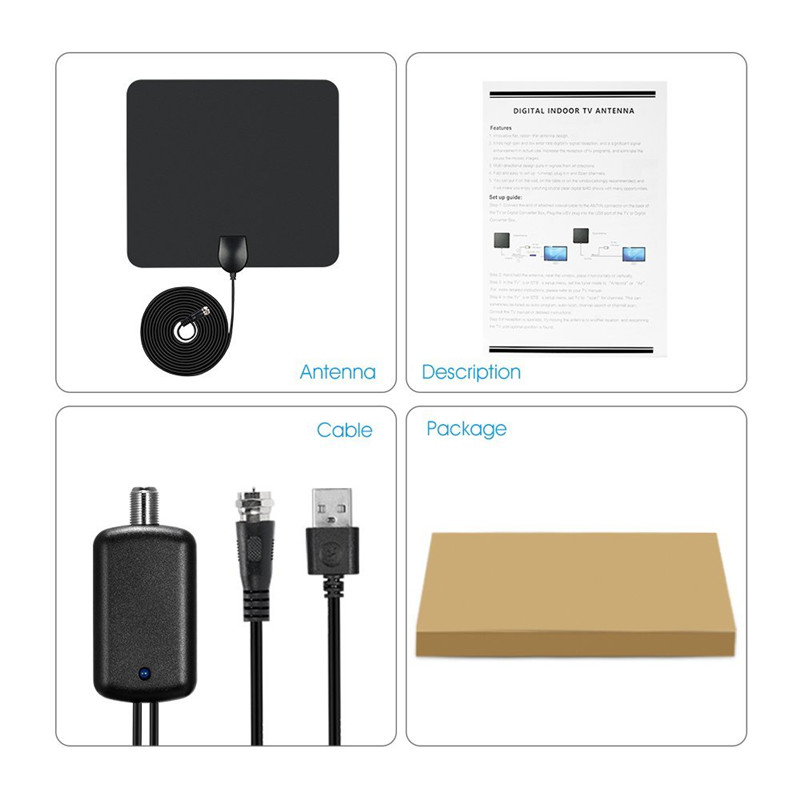Falt Amplifer Tv Antenna