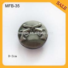 MFB35 touche personnalisée boutons logo design métal bouton classique jeans
