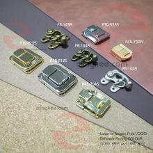 Accessoires vintage de pièce de sac d'OEM de serrure en métal d'alliage de zinc pour la serrure en bois de boîte à bijoux