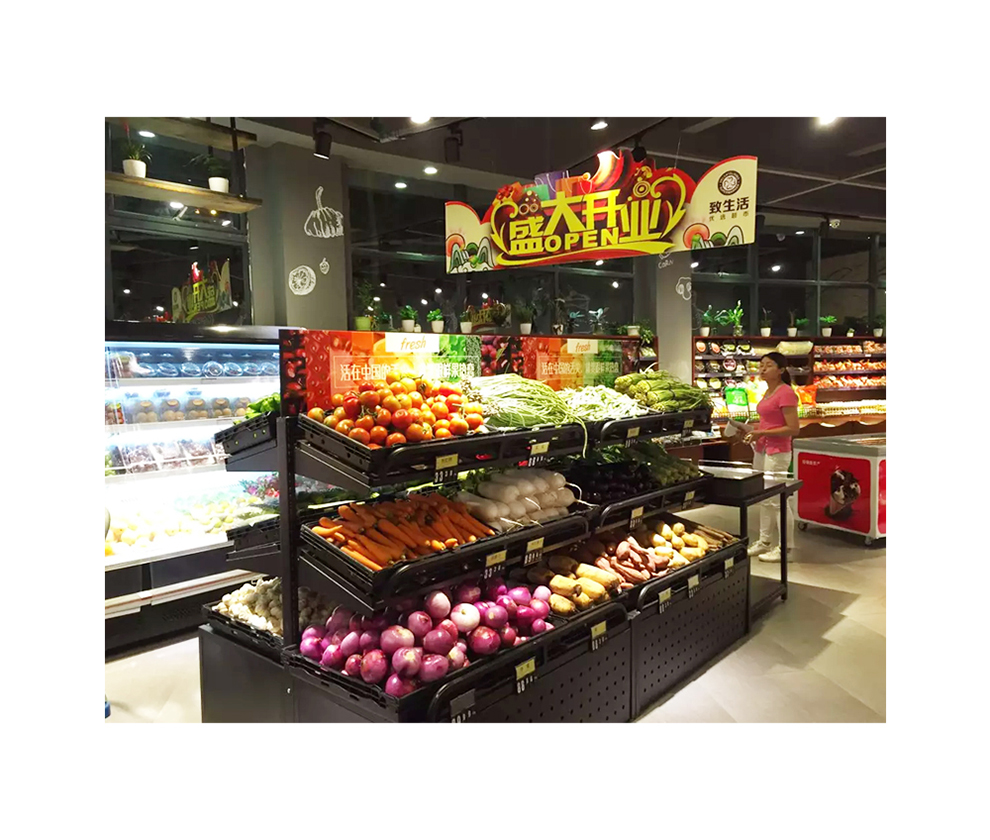 Hoogwaardige supermarkt Fruit Display stellingen