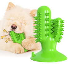 amazon hot style double suction cup pull leash pet molar grinding stick dog toothbrush chew toy