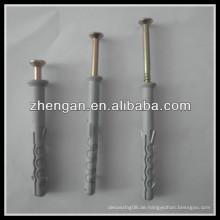 Stahlsatz Betonschrauben mit Kunststoffstecker