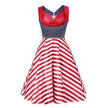 50er Jahre Frauen Vintage Abendparty ärmelloses Kleid