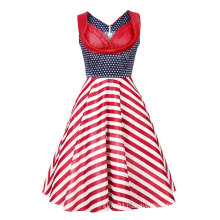 50s Women Vintage Evening Party Sleeveless Dress