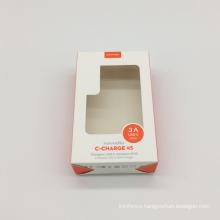 Clear PVC window Custom paper gift box