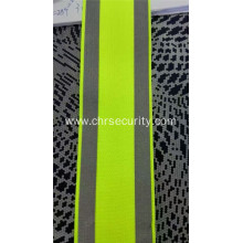 elastic reflective fabric flruoscent yellow