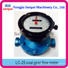 Medidor de flujo de engranajes ovalados LC-25