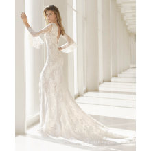 Front Split Lace Mermaid Bridal Gown Wedding Dress