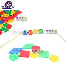 Пластиковая конструкция резьба строительные блоки игрушка