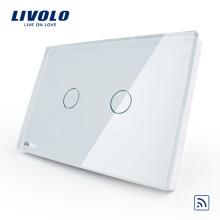 interrupteur tactile standard livolo US / AU 110-250V 2gang 1way télécommande interrupteur