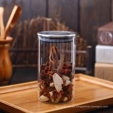 1000 ml high borosilicate glass jar with rubber seal metal lid glass jar 1 liter