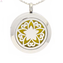 Neue Blume des Lebens Parfüm Medaillon, ätherische Öle Diffusor Halskette, Aromatherapie-Anhänger