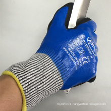 NMSAFETY Full Dipped Double Nitrile Coated Cut Resistant Safety Gloves