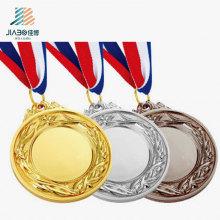 Fábrica de Fornecimento personalizado Esportes Ouro, Prata, Bronze Medalha De Metal Em Branco para o Presente Da Lembrança