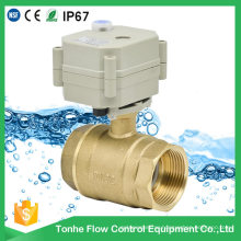 """1 1/4"""" Inch Dn32 Brass Electric Actuator Water Motorized Motorised Ball Valve"""