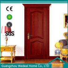 Деревянные двери из шпона для гостиной со стеклом (WDHO55)