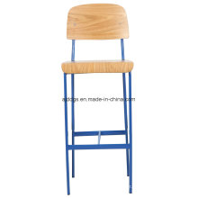 Iron Stool Wooden Chair High Leisure Chair