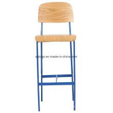 Ferro cadeira do tamborete de madeira cadeira alta lazer