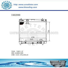 Aluminum Radiator For TOYOTA YARIS 07 1640021300 Manufacturer and Direct Sale