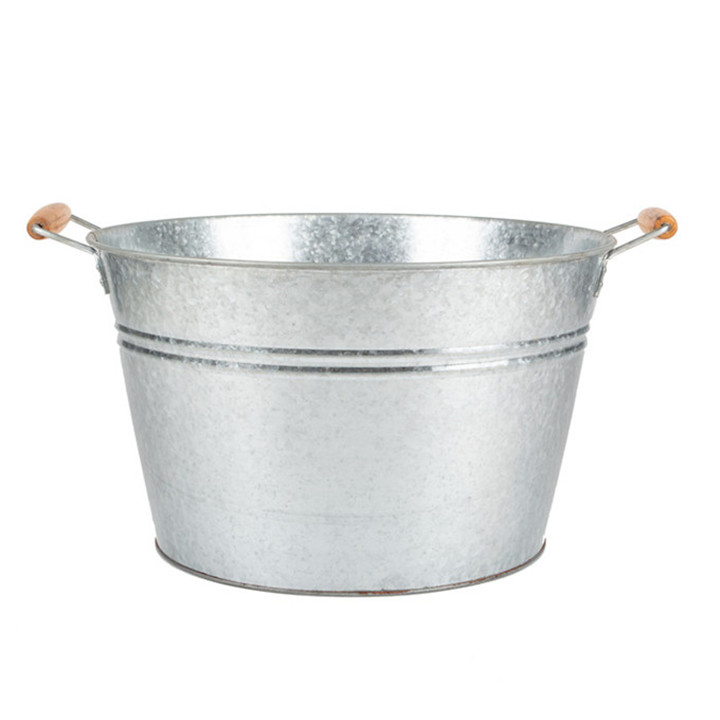Large Metal Galvanized Tin Metal Bucket