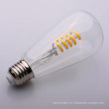 Clear / Amber Glass Globe Dimmable 4w forma redonda suave LED Filamento Bulbo ST64