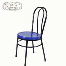Venta al por mayor de China Alibaba muebles de metal comedor cafetería snack bar bistro al aire libre silla de jardín
