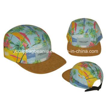 5 Painel Camo Flat Brim Snapback Hat