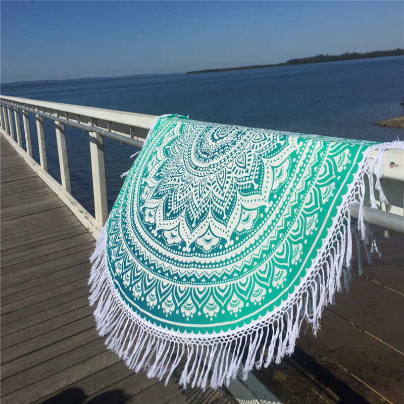 Round Weighted Beach Towel