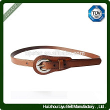Fashion Thin Genuine leather Brown Metal Buckle Belt For Dress/Cintos Moda Mulher cintos de couro