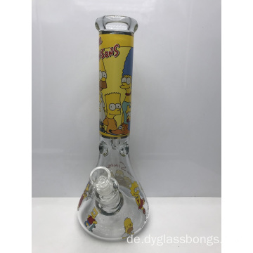 7mm Glasbecher Bongs mit Simpsons Zeichentrickfiguren