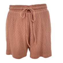 2021 New Style Women'S Knitted Shorts With Drawstring Female Shorts