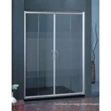 Fácil de limpiar baño de artículos sanitarios de vidrio templado ducha simple pantalla (H021)
