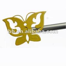 metal child mini brushed nickel curtain rod