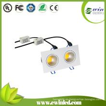 2X6watt Square LED Downlight con CE RoHS